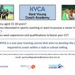Kent Young Coaches Academy