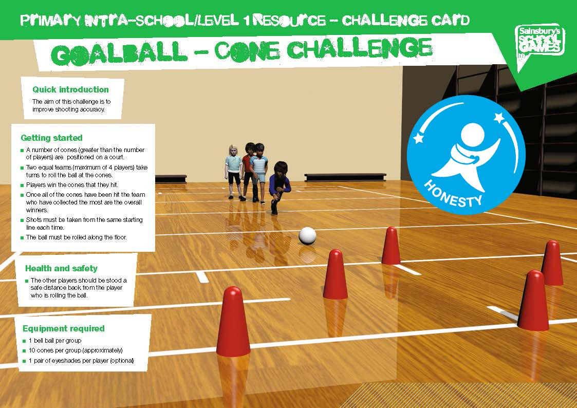 GoalBall Challenge Card